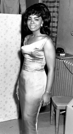 "The ""First Lady of Motown"" Mary Wells, in the 1960's."