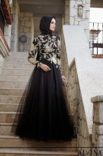 hijab evening dresses 2016 - Google Search Muslim Women Fashion, Arab Fashion, Turkish Fashion, Islamic Fashion, Modest Fashion, Hijab Evening Dress, Evening Dresses, Prom Dress, Hijabs
