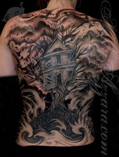 A Treehouse on your skin | Hometreehome Tattoo by Holly Azzara