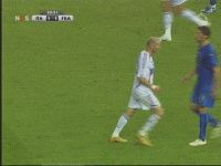 Funniest Zidane vs Matertazzi Headbutt GIF ever