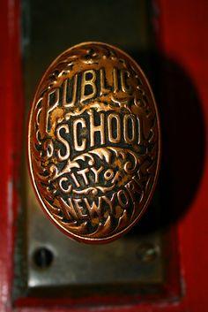 Public School, City of New York, Door Knob by NYCmiri, via Flickr