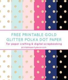 Gold Glitter Polka Dot Digital Paper from printablepartydecor.com