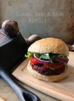 The Kitchen Prep: Coming Clean: Quinoa, Beet & Bean Burgers