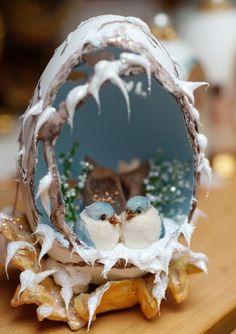 Winter scene egg