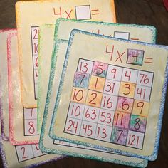 Bingo! Math, multiplication~ Waldorf 2nd & 3rd grade Math review