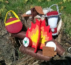 Hey, I found this really awesome Etsy listing at https://www.etsy.com/listing/190156618/campfire-set-logs-lantern-compass-smore