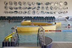 'Reflections' mural by Steve Tepper and Mark Datodi at Leisurefit Booragoon Aquatic Centre, Western Australia