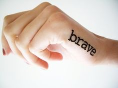 Brave, Epic, Enjoy life Now is not a Rehearsal - Temporary tattoo (set of 3) on Etsy, 4,50€