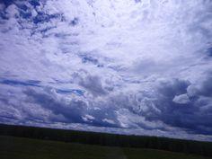 Nuvens no céu!