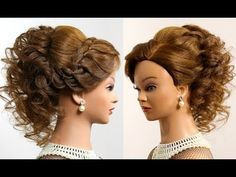 Prom wedding updo. Romantic hairstyle for long medium hair - YouTube