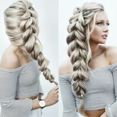 Amazing pull through braid!! Want to create this hairstyle? Add more volume using natural hair extensions www.victoriahairandbeauty.com