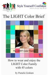 Light Color Brief - How to wear and enjoy the Light color family with 45 colors #color analysis books #Light color family  http://www.style-yourself-confident.com/books-and-ebooks.html