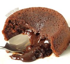 Healthier Molten Lava Cakes for Two (100% whole grain, dairy-free) This healthier molten lava cake recipe makes just enough for two and the cakes taste just as sinful as the more traditional kind!