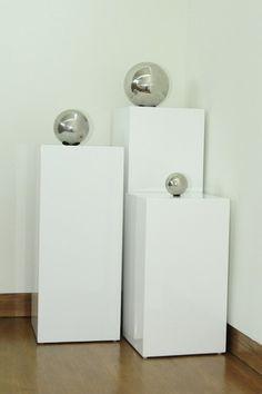 Miami Pedestal - White - Set of 3 by Dulce Mid Century on @HauteLook