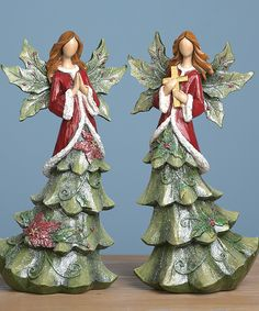 Tree Angel Figurine Set | Daily deals for moms, babies and kids
