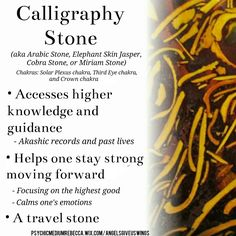 Calligraphy stone crystal meaning