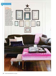 Un excelente elemento para tu sala: los taburetes.