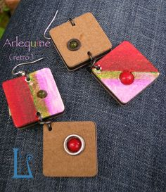 ARLEQUINE (retro).Coloured foam rubber and resine pearls. Handmade by BarlumeManod'Opera.
