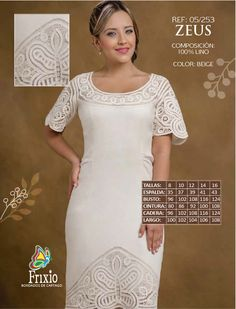 REF 05/253 – Frixio Plus Dresses, Formal Dresses, Wedding Dresses, Folk Costume, Embroidery Dress, Dress Suits, Crochet Clothes, Well Dressed, Frocks