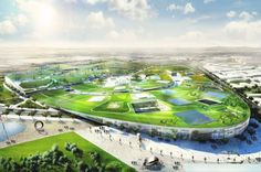 BIG Unveils Winning Plans for Massive Green-Roofed Europa City Outside of Paris