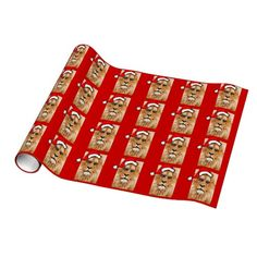 Lion With Santa Hat Gift Wrap