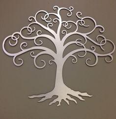 Tree of Life industrial metal wall art 24 by alkemymetal on Etsy