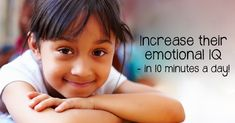 Just 10 minutes a day can make a big difference in raising a child with emotional intelligence skills such as empathy and self-control. Self Control, Emotional Intelligence, Raising, Parenting, Adhd, Big, Children, Articles, Healthy