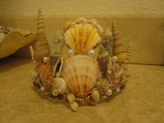 Sea shell crown I made for our Pirate Prom.