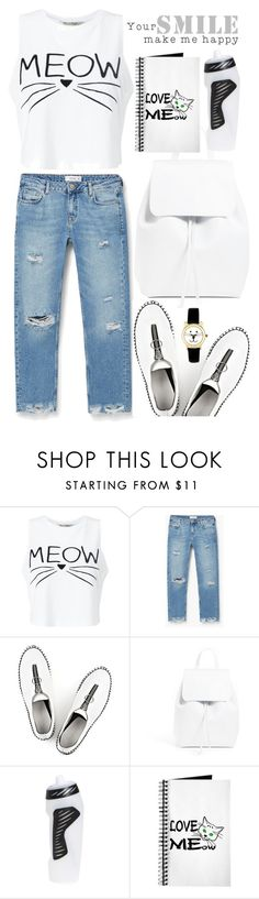 """""""Your smile make me happy"""" by rasa-j ❤ liked on Polyvore featuring Miss Selfridge, MANGO, Alexander Wang, Mansur Gavriel and NIKE"""