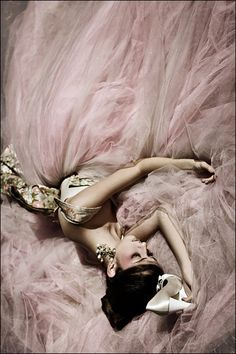 Pink: Mounds and mounds of tulle.