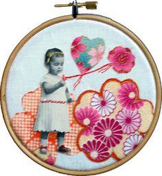 LA DIESSE DEL '67: QUANDO PERDO IL FILO #hoop_art #vintage #embroidery #broderie #punto_erba #punto_pieno #50s #valentine