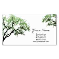 Summer Trees Business Cards. Make your own business card with this great design. All you need is to add your info to this template. Click the image to try it out!