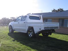 Steel UTE Tray TO Suit Hilux Landcruiser Colorado Navara AND Triton in Young, NSW | eBay Custom Trailers, Camper Trailers, Ute Canopy, Ute Trays, Toyota Hilux, Truck Bed, Land Cruiser, Truck Parts, Monster Trucks