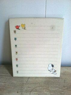 Vintage Hallmark Peanuts Snoopy stationery 1965 by DodoBirdVintage, $10.00