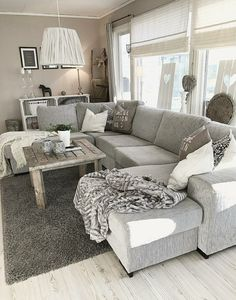 Interior Design Minimalist Living Room is completely important for your living room remodel. Whether you choose the Minimalist Scandinavian Living Room or Minimalist Farmhouse Living Room, you should… Modern Farmhouse Living Room Decor, Cozy Living Rooms, Living Room Grey, Home Living Room, Apartment Living, Living Room Designs, Rustic Farmhouse, Grey Living Room Furniture, Farmhouse Ideas