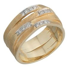 Damen-Ring mattiert 14 Karat (585) Gelbgold 12 Diamant 0.12 ct. 58 (18.5) Dreambase, http://www.amazon.de/dp/B00AEEKAPW/ref=cm_sw_r_pi_dp_OR.itb0DMKEEJ