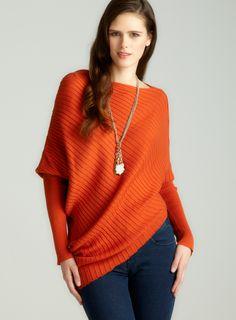 Rib pullover in spice