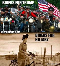 Bikers for Trump and Bikers for Hillary
