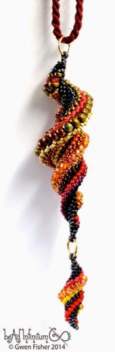 Math art beads tutorial pattern sewing weaving hat gwen fisher