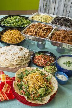 4 tips for a DIY taco bar d e l i c i o u s- 4 tips for a DIY taco bar . - 4 tips for a DIY taco bar d e l i c i o u s – 4 tips for a DIY taco bar d e l i c i o u s – bi - Party Food Bars, Party Food Platters, Bar Food, Food For Party Buffet, Wedding Buffet Food, Wedding Reception Food, Birthday Party Food For Kids, Cheap Party Food, Wedding Food Stations