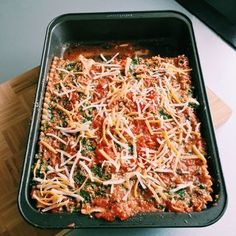 Spinach Ricotta Lasagna for a special night with vegetarian girlfriend