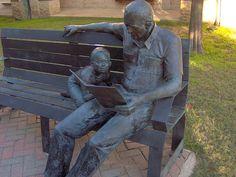 Library sculpture ~ McKinney, Texas