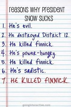 HE KILLED FINNICK! AND BRAIN WASHED PEETA! AND DID SOMETHING TO ALL THE OTHER PEOPLE!!!