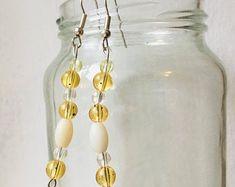 Vintage Dangle wooden Beaded Earrings Vintage Earrings Brown   Etsy Wooden Jewelry, Wooden Beads, Rose Earrings, Dangle Earrings, Vintage Earrings, Vintage Jewelry, Stripe Pants, Bead Jewellery, Hippie Jewelry