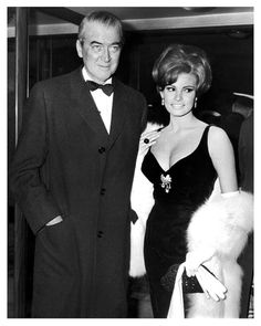 Actors James Stewart and Raquel Welch attending the UK premiere of The Flight of the Phoenix at the Carlton Theatre in London - January…