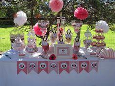 Gorgeous baby shower dessert table! #babyshower #desserttable