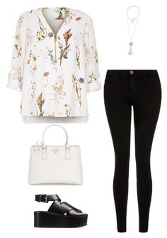 """""""Sans titre #322"""" by girly-1d-girl ❤ liked on Polyvore featuring River Island, Current/Elliott, Alexander Wang, Prada and Calypso St. Barth"""