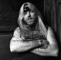 Gregg Allman during a tour stop in Indiana, August 1986