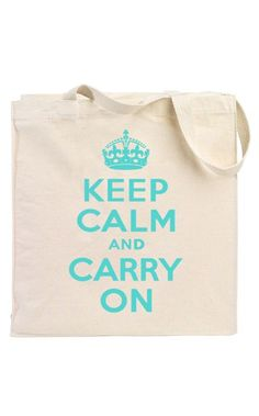 Keep Calm and Carry On Totes // Great gift idea! (and affordable at $12)