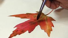 how to paint watercolor leaves - YouTube